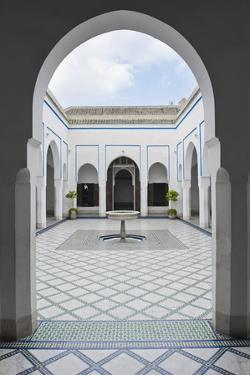 Courtyard at El Bahia Palace, Marrakech, Morocco, North Africa, Africa by Matthew Williams-Ellis