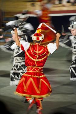 Dancers Doing the Traditional Moreska Sword Dance, in Korcula, Dalmatian Coast, Croatia, Europe by Matthew Williams-Ellis