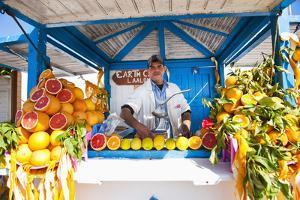 Fresh Orange Juice Vendor, Essaouira, Formerly Mogador, Morocco, North Africa, Africa by Matthew Williams-Ellis