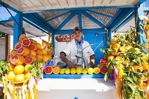 Fresh Orange Juice Vendor, Essaouira, Formerly Mogador, Morocco, North Africa, Africa by Matthew Williams-Ellis