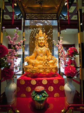 Gold Buddha at the Buddha Tooth Relic Museum in Chinatown, Singapore, Southeast Asia, Asia by Matthew Williams-Ellis
