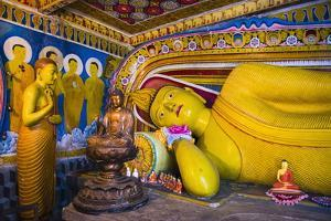 Golden Reclining Buddha at Temple of the Tooth (Temple of the Sacred Tooth Relic) in Kandy by Matthew Williams-Ellis