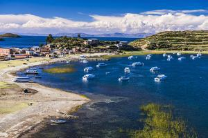 Harbour on Lake Titicaca at Challapampa Village on Isla Del Sol (Island of the Sun), Bolivia by Matthew Williams-Ellis