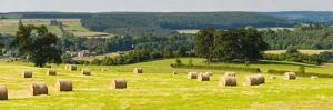 Hay Bale Landscape in Northumberland National Park by Matthew Williams-Ellis