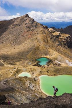 Hiking at the Emerald Lakes, Tongariro Alpine Crossing Trek, Tongariro National Park by Matthew Williams-Ellis
