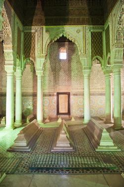 Interior of the Saadien Tombs, Marrakech, Morocco, North Africa, Africa by Matthew Williams-Ellis