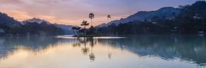 Kandy Lake and the Island at Sunrise, Kandy, Central Province, Sri Lanka, Asia by Matthew Williams-Ellis