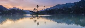 Kandy Lake and the Island at Sunrise, Kandy, Central Province, Sri Lanka, Asia by Matthew Williams-Ellis