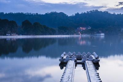 Kandy Lake and the Temple of the Sacred Tooth Relic (Sri Dalada Maligawa) at Night by Matthew Williams-Ellis