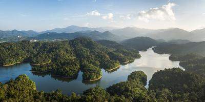Kland Gate Dam Reservoir and rainforest from Bukit Tabur Mountain, Kuala Lumpur, Malaysia by Matthew Williams-Ellis