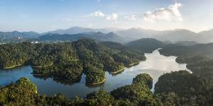 Kland Gate Dam Reservoir and rainforest from Bukit Tabur Mountain, Kuala Lumpur, Malaysia by Matthew Williams-Ellis