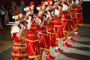 Korcula Island, Dancers Doing the Traditional Moreska Sword Dance, Dalmatian Coast, Croatia, Europe by Matthew Williams-Ellis