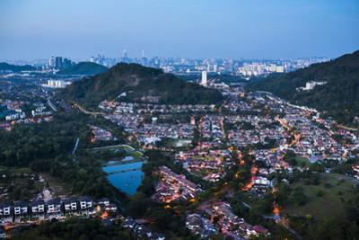 Kuala Lumpur skyline at night seen from Bukit Tabur Mountain, Malaysia, Southeast Asia, Asia by Matthew Williams-Ellis
