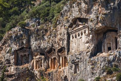 Lycian tombs, Dalyan, Mugla Province, Anatolia, Turkey, Asia Minor, Eurasia by Matthew Williams-Ellis
