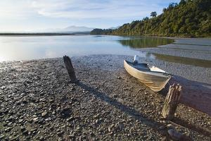 Motor Boat, Okarito Lagoon, West Coast, South Island, New Zealand, Pacific by Matthew Williams-Ellis