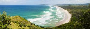 Panoramic Aerial View of Tallow Beach at Byron Bay, New South Wales, Australia, Pacific by Matthew Williams-Ellis