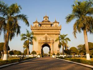 Patuxai, (Victory Gate), a Replica of Arc de Triomphe, Vientiane, Laos, Indochina, Southeast Asia by Matthew Williams-Ellis