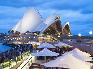 People at Opera Bar in Front of Sydney Opera House, UNESCO World Heritage Site, Sydney, Australia by Matthew Williams-Ellis