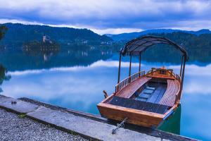 Pletna Rowing Boat, Lake Bled, Bled, Gorenjska, Upper Carniola Region, Slovenia, Europe by Matthew Williams-Ellis