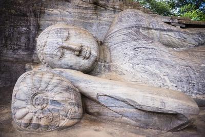 Reclining Buddha in Nirvana at Gal Vihara Rock Temple