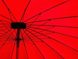 Red Umbrella Close Up, Vientiane, Laos, Indochina, Southeast Asia, Asia by Matthew Williams-Ellis