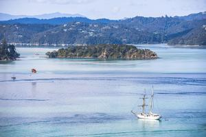 Sailing Boat in the Bay of Islands Seen from Russell, Northland Region, North Island by Matthew Williams-Ellis