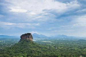 Sigiriya Rock Fortress, UNESCO World Heritage Site, Seen from Pidurangala Rock, Sri Lanka, Asia by Matthew Williams-Ellis