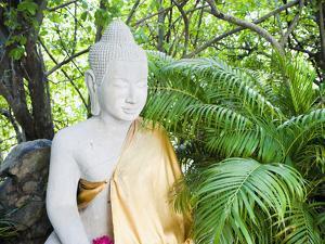Stone Buddha in the Silver Pagoda at the Royal Palace, Phnom Penh, Cambodia, Indochina by Matthew Williams-Ellis