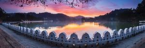 Sunrise at Kandy Lake and the Clouds Wall (Walakulu Wall) by Matthew Williams-Ellis