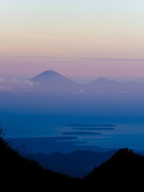 Sunset over Mount Agung and Mount Batur on Bali, and Three Gili Isles, Lombok, Indonesia by Matthew Williams-Ellis