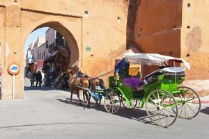 Tourists in Marrakech Enjoying a Horse and Cart Ride around the Old Medina by Matthew Williams-Ellis
