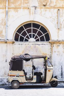 Tuktuk in the Old Town of Galle, UNESCO World Heritage Site on the South Coast of Sri Lanka, Asia by Matthew Williams-Ellis