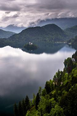 View of Lake Bled from Lake Bled Castle by Matthew Williams-Ellis