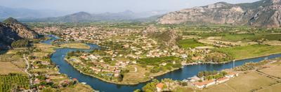 View over Dalyan River from the ancient ruins of Kaunos, Dalyan, Anatolia, Turkey Minor, Eurasia by Matthew Williams-Ellis