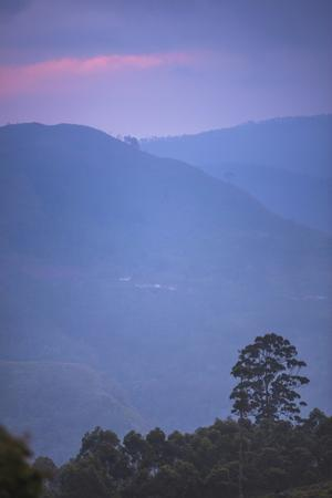 View over Mountains from Haputale in the Sri Lanka Hill Country Landscape at Sunrise by Matthew Williams-Ellis