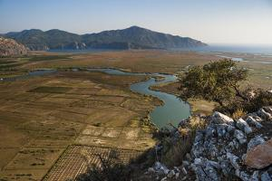 View over the Dalyan River from the ancient ruins of Kaunos, Dalyan, Anatolia, Turkey by Matthew Williams-Ellis