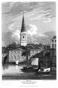 St Bride's Church, London, 1815 by Matthews