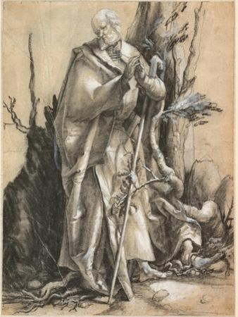 Bearded Saint with Walking Stick, C. 1516 by Matthias Grünewald