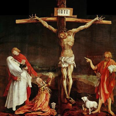 Crucifixion, a Panel from the Isenheim Altar, Limewood (Around 1515) by Matthias Grünewald