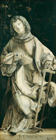 Panel of the Heller Altar Depicting St. Laurence by Matthias Grünewald