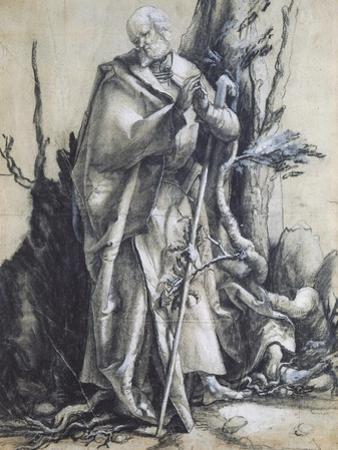 St John in the Forest by Matthias Grunewald