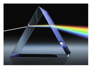 Light Beam Through Glass Prism by Matthias Kulka