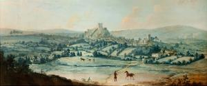 Distant View of Clitheroe, C.1730 by Matthias Read