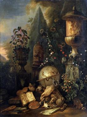 Vanitas, Still Life with a Vase, 17th or Early 18th Century by Matthias Withoos