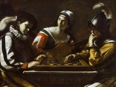 The Game of Draughts, 1630s