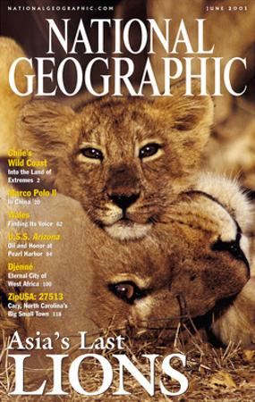 Cover of the June, 2001 National Geographic Magazine by Mattias Klum