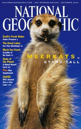 Cover of the September, 2002 National Geographic Magazine by Mattias Klum