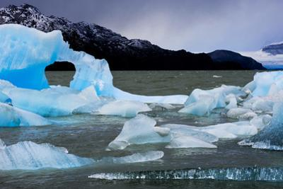 Icebergs Float in Lago Grey in Torres Del Paine National Park by Mattias Klum