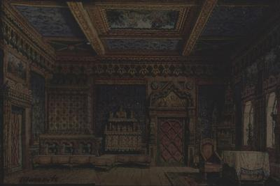 Stage Design for the Theatre Play Death of Ivan the Terrible by A. Tolstoy