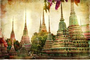 Amazing Bangkok - Artwork In Painting Style by Maugli-l